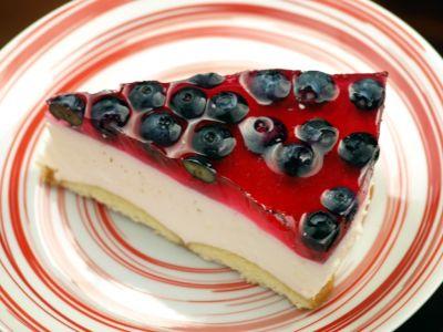 Ciasto z owocami na zimno