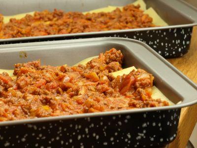 Przekładanie warstw Lasagne